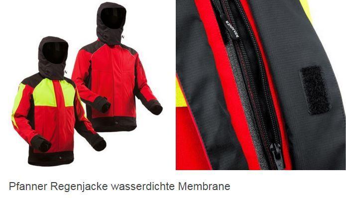 Pfanner Regenjacke wasserdichte Membrane  #rot #schwarz #atmungsaktiv #winddicht #wasserdicht #Pfanner #GenXtreme #workwear #outdoor