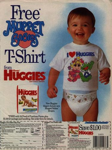 huggies muppet t shrit huggies retro pinterest. Black Bedroom Furniture Sets. Home Design Ideas