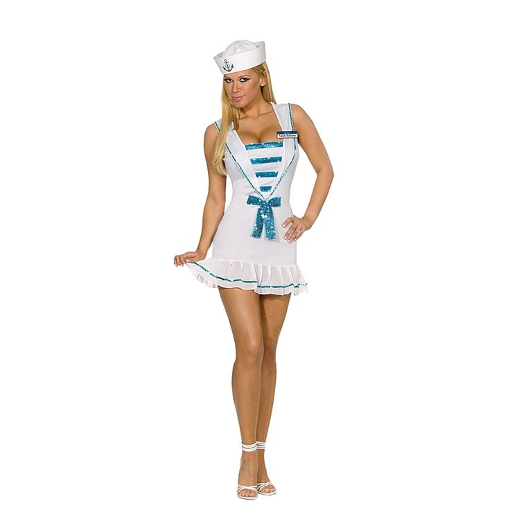 Sexy Womens Sailor Halloween Costumes Shore Thing Sandy | eBay