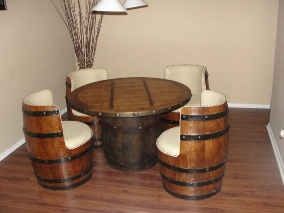 Tequila white oak barrel chair by TequilaBarrelCrafts on Etsy, $275.00