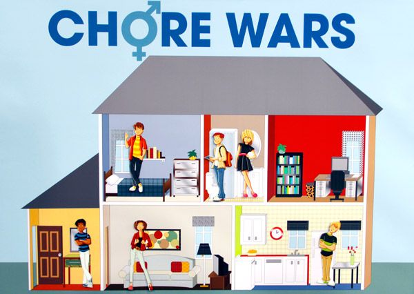 Home guru Sara Lynn Cauchon did a little room-by-room research to let us know who comes out on top in the battles of the sexes when it comes to cleaning.