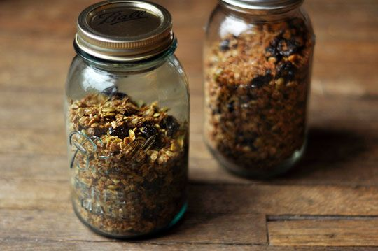 Olive oil granola...by Melissa Clark. For when I can live with the 1/2 cup of olive oil in my breakfast...