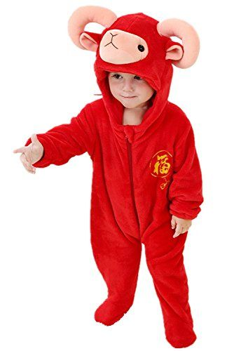 DQdq Unisex Baby Halloween Costume Autumn Outfit Spring Jumpsuits Red Sheep 7035 Months