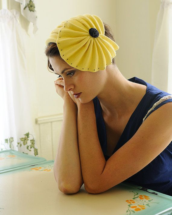 #Yellow #millinery #hat