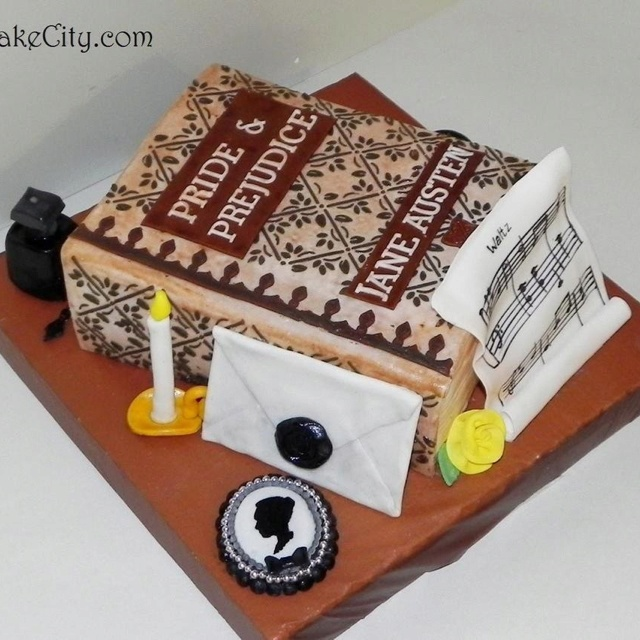 Jane Austen/Pride and Prejudice cake