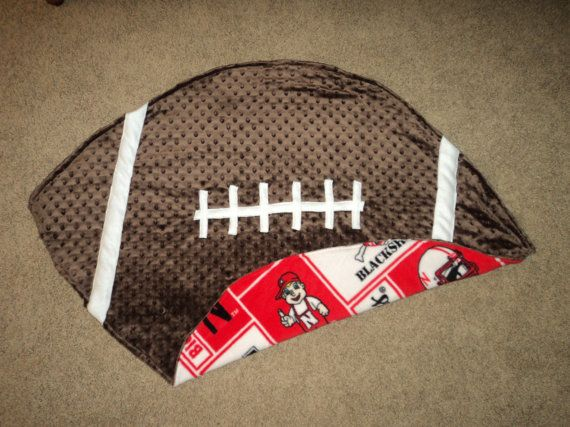 Nebraska Husker Football Shaped Baby Blanket