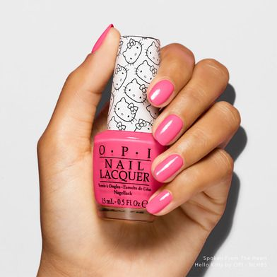 We love this shade, oh yes it's true! Shade shown: #SpokenFromtheHeart #HelloKittybyOPI