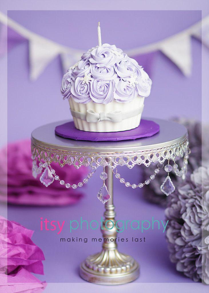 Baby Cake Smash Ideas Lavender