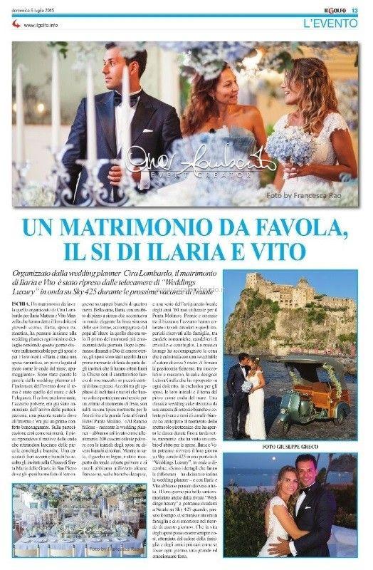 Matrimonio da sogno a Ischia. Schiuma di onde, blu del mare e tanto romanticismo per Ilaria e Vito.