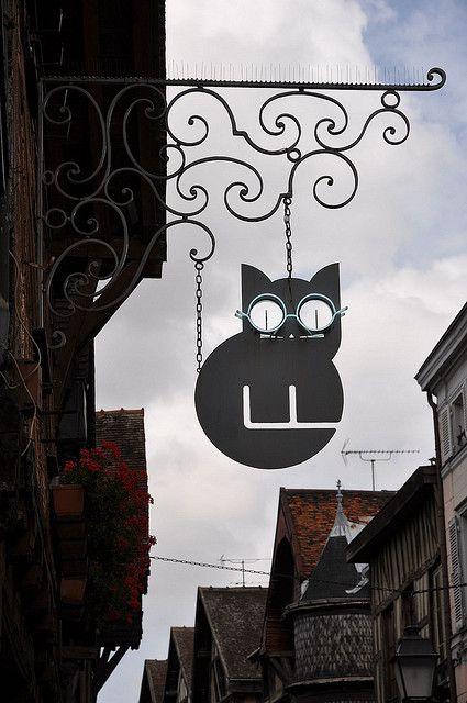 Enseigne de magasin de lunettes (Troyes. Région Champagne-Ardenne. France).