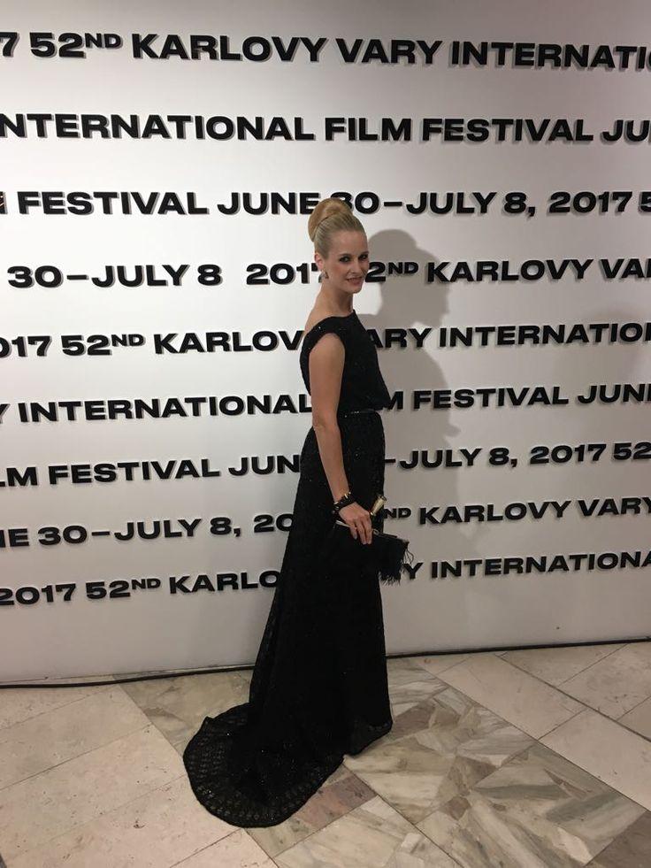 Romana Kurucova in Ivana Rosova Couture dress at 52nd Karlove Vary International Film Festival 2017 #iwearivanarosova www.ivanarosova.com