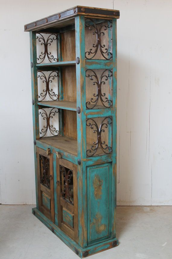 High Quality, Expertly Handmade, Rustic Bookshelf made from new Pine wood. Color faded to compliment rustic design. Has 5 shelves, 2 inside