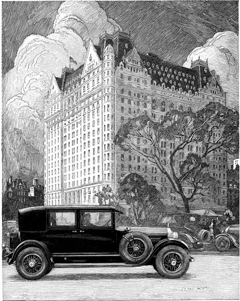 Franklin Booth was primarily a commercial illustrator. His illustrations appeared in The Century Magazine, Everybody's Magazine, McClure's, Cosmopolitan, Redbook, Good Housekeeping, House & Garden and Ladies' Home Journal. He also created advertising art for Bulova Watches, Estey Organ, GE, Overland, Paramount Pictures, Rolls-Royce, Studebaker, Wallace Silver and Whitman's Candy.