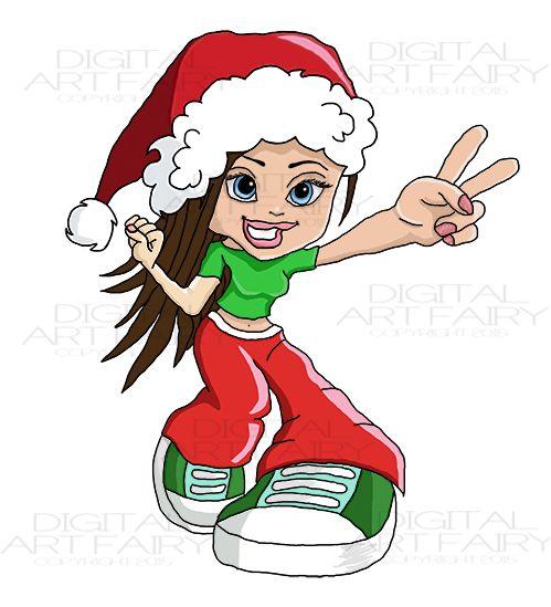 digitalartfairy.com clipart celebration christmas xmas-raver-girl
