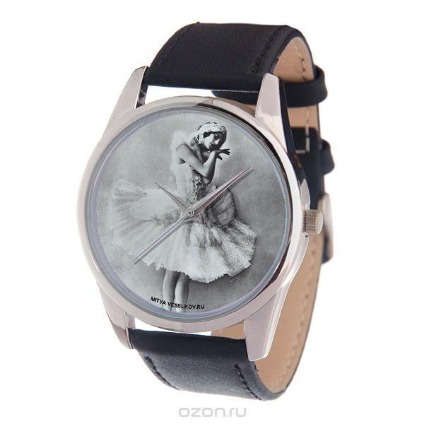 Часы наручные женские Mitya Veselkov Анна Павлова, цвет: серебряный, черный, белый. MV-198