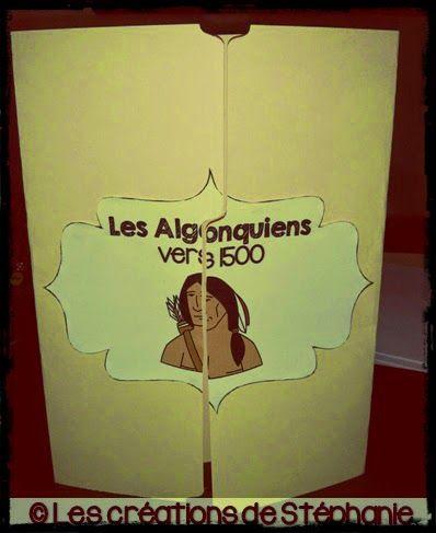 Lapbook Les créations de Stéphanie:  Les Algonquiens vers 1500 2e cyle