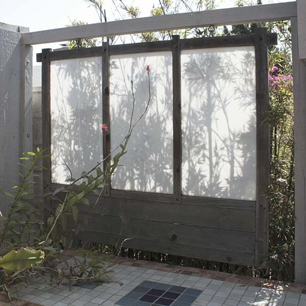 Hanging Screen In The Garden.