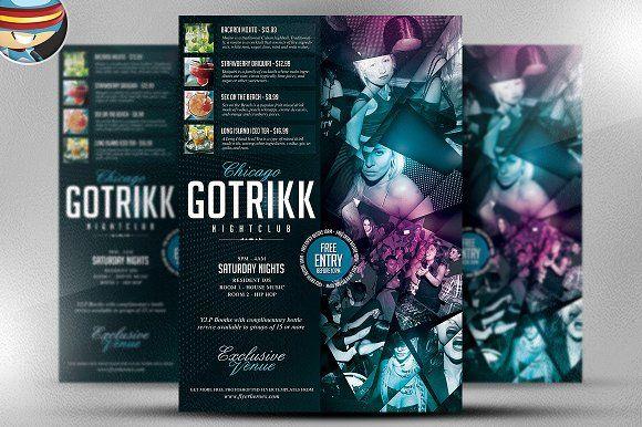 Gotrikk Club Flyer Template by FlyerHeroes on @creativemarket