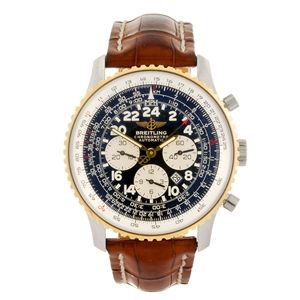 LOT:5 | A bi-metal automatic chronograph gentleman's Breitling Navitimer Cosmonaute wrist watch.