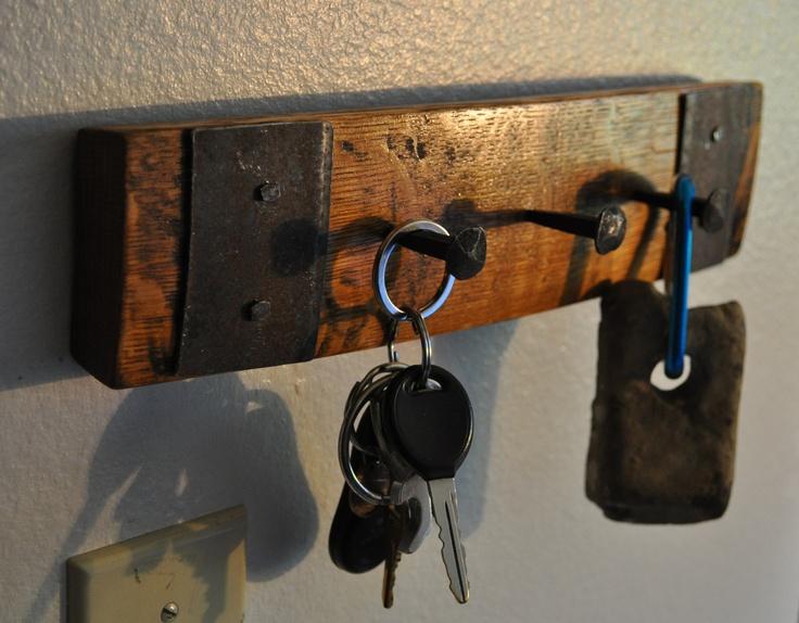 Barrel stave key rack...