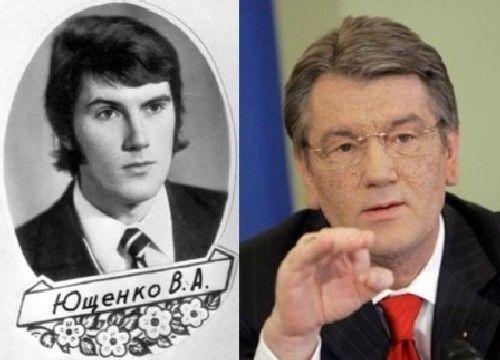 Viktor Yushchenko in youth