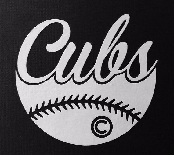 Chicago Cubs Baseball Vinyl Decal - Bumper sticker - Computer decal