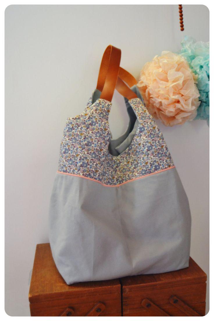 Cabas Liberty et cuir Summer Bag de la boutique MyLittleFishes sur Etsy