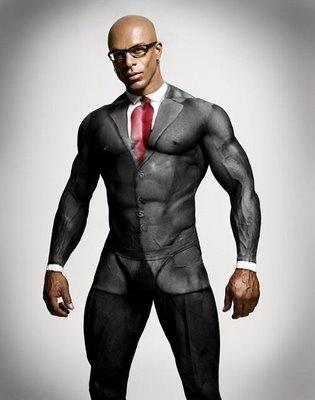 Human canvass...crazy cool body paint suit