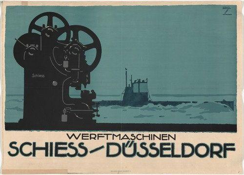 Ludwig Hohlwein. Schiess-Dusseldorf. c. 1913