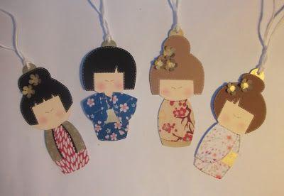 cartoncino mio: Bambole kokeshi