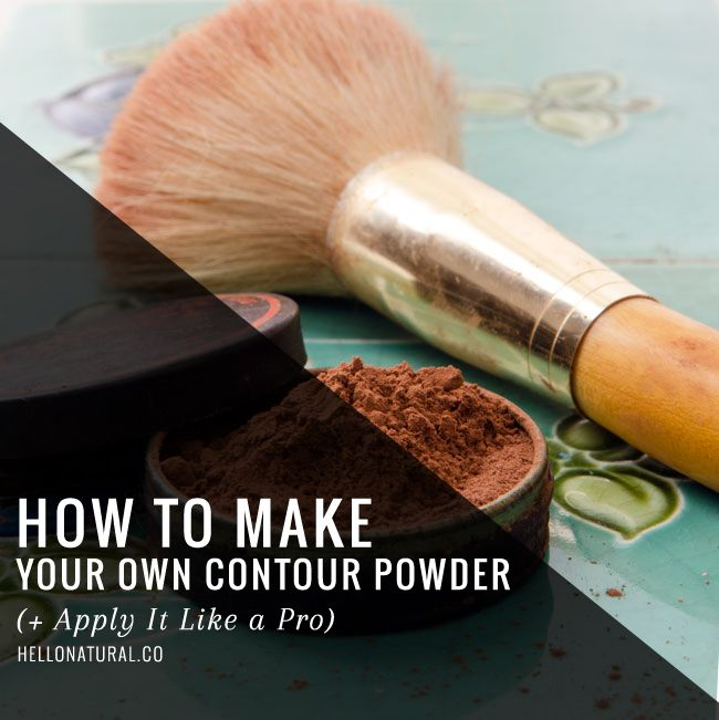 How to Make + Apply Homemade Contouring Powder | HelloNatural.co