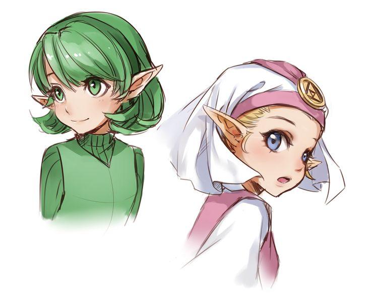 The Legend of Zelda: Ocarina of Time - Saria and Zelda