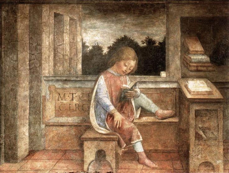 The Young Cicero Reading - Фоппа, Винченцо — Википедия.  Юный Цицерон за книгой.