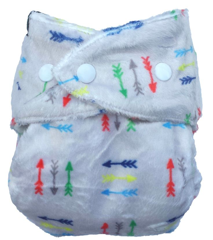 Bum Rarpz minky cloth nappy in Cupid print.  Featuring colorful arrows in sets of three and a super soft grey background, this one is super nice in real life. NZ designed minky fabric from The Print Baker and custom milled for Rarpz Design - in stores now!