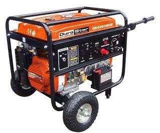 """Features & Benefits"" DuroStar DS4000WGE, 3500 Running Watts/4000 Starting Watts, Gas Powered Portable Generator, with 210 Amp Welder Combo"