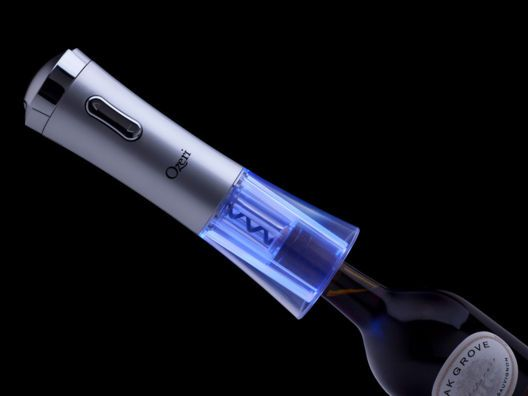 "Nouveaux II Electric Wine Bottle Opener by Ozeri from Kurt ""CyberGuy"" Knutsson  This looks like it would be fun to use and also impress your friends."