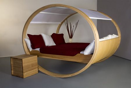 The Private Cloud Rocking Bed by German designer Manuel Kloker.