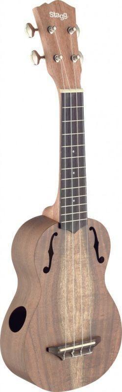 Acacia ƒ hole Stagg Soprano #LardysUkuleleOfTheDay #Ukulele ~ https://www.pinterest.com/lardyfatboy/lardys-ukulele-of-the-day/ ~