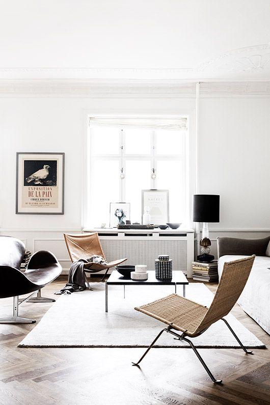 whitewashed modern living room decor / sfgirlbybay