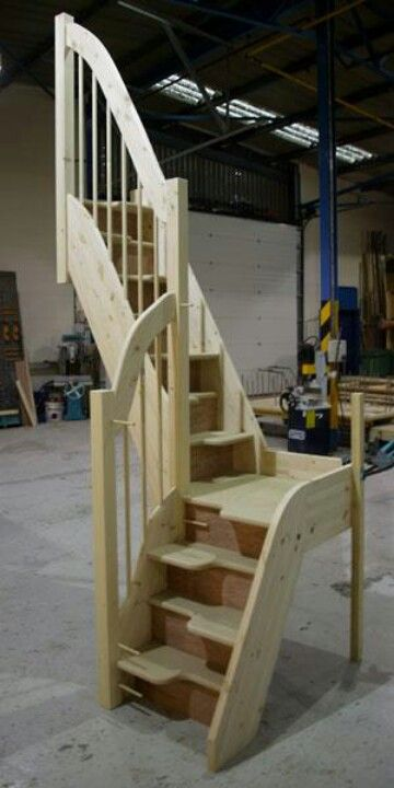 Cool small stairs possibly for a tiny house instead of a loft ladder