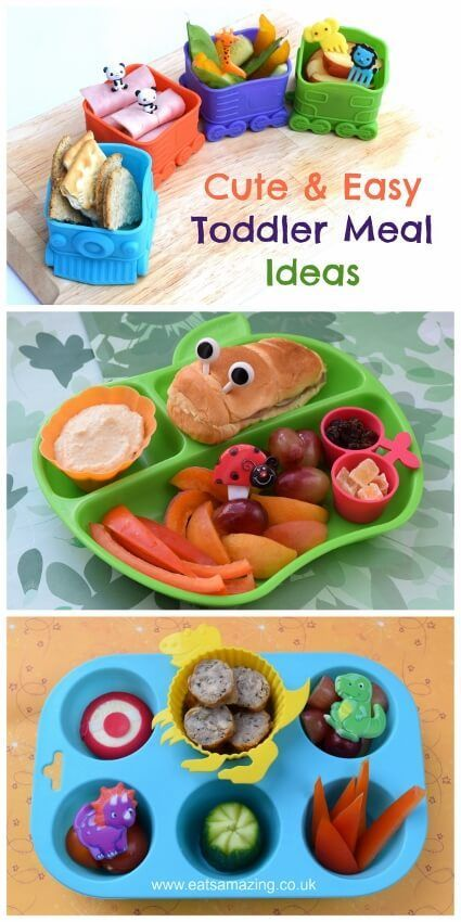 Four cute and easy toddler meal ideas - kids will love these healthy fun food ideas!