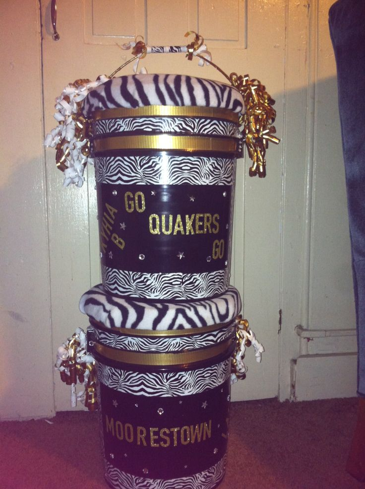 Make a cheer bucket for the girls birthdays at cheer. Buy bucket have the team decorate it. Put things such as there year, favorite color, and anything else.