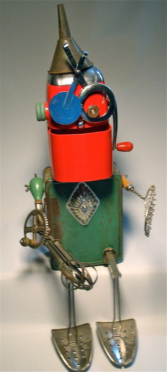 The Crusher Assemblage Art Robot Sculpture by KitchyBots on Etsy                                                                                                                                                      More