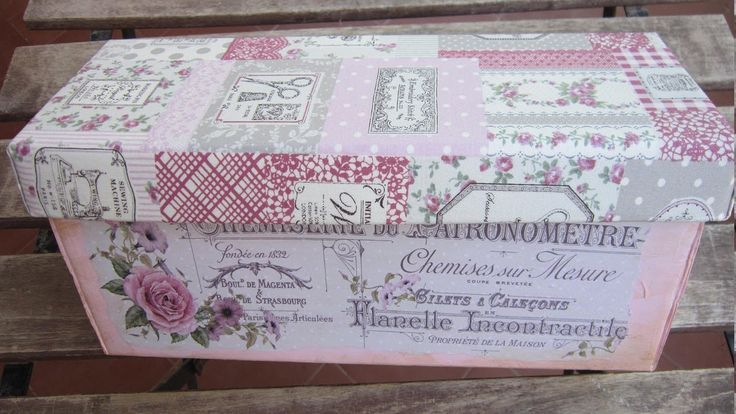 Reciclar una caja de cartón con decoupage, relieve y tela #reciclaje #manualidades #decoración #crafts #relieve #plantillas #stencil #art #decoupage