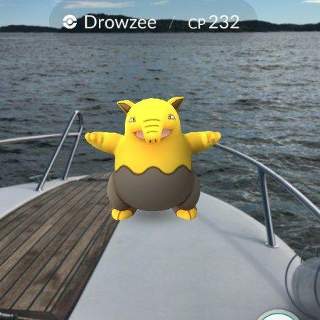 Pokémonjakt med båt