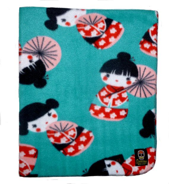On Sale  Geisha Blanket  Baby Blanket  by consciouschildren