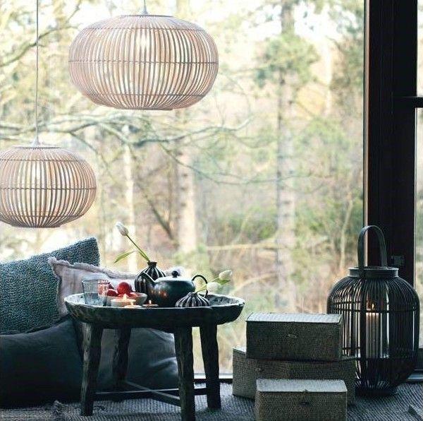 Bamboo hanglamp van Broste Copenhagen, blikvanger! #wonen #wooninspiratie #interieurtips #woonblog