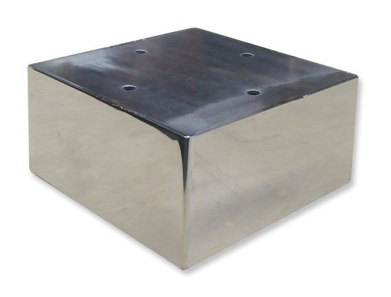 Quinn Metal Leg Cubed 5 Square Stainless Steel Metal Etsy Metal Furniture Legs Steel Sheet Metal Stainless Steel Sheet Metal