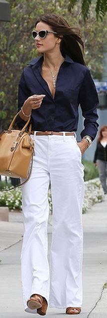 Alessandra Ambrosio: Jeans – J Brand  Purse – Michael Kors