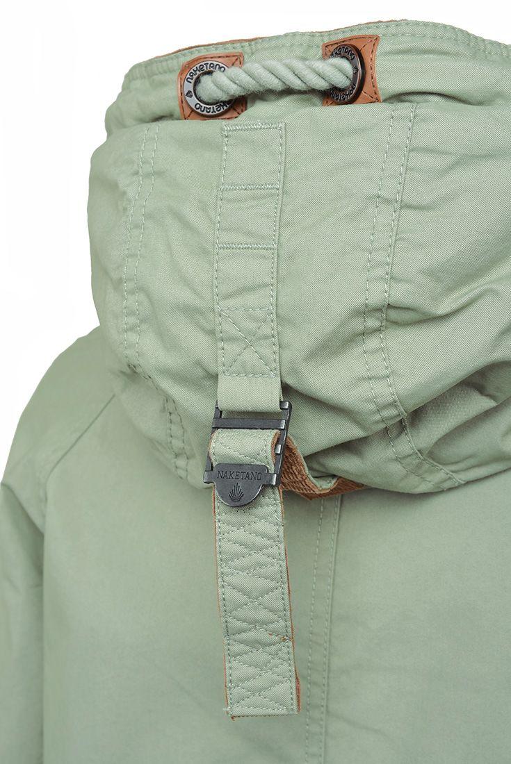 Světle zelená bunda s přední kapsou Naketano  bundapreshlavu  skapuci 64cd7e3c59